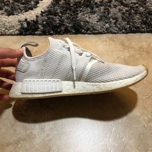adidas Shoes - ADIDAS NMD ALL WHITE size 8.5